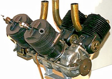 Germany's Hans Grade1909 V4 two-stroke aero engine.
