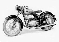 Ardie 1955 BZ350 twin. Merged with Durkopp in 1958.