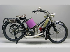 Scott 1913 550cc twin 2 speed.